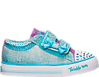 Girls' Toddler Skechers Twinkle Toes: Shuffles - Bow Buddies Casual Shoes