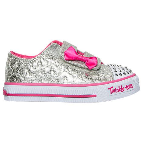Girls' Toddler Skechers Twinkle Toes: Shuffles - Starlight Style Casual Shoes