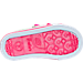 Bottom view of Girls' Toddler Skechers Twinkle Toes: Shuffles - Starlight Style Casual Shoes in Silver/Pink