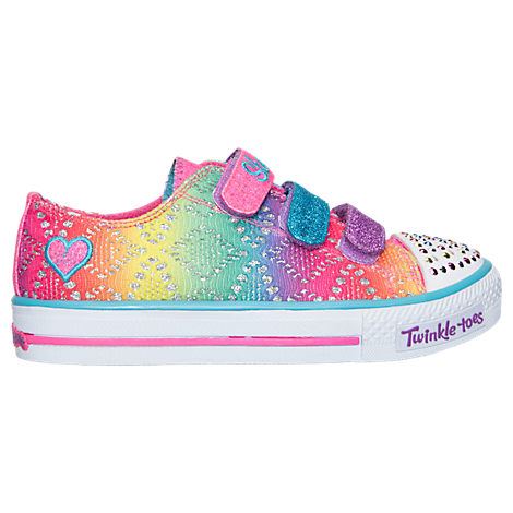 Girls' Preschool Skechers Twinkle Toes: Shuffles - Rainbow Madness Casual Shoes