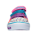 Front view of Girls' Preschool Skechers Twinkle Toes: Shuffles - Rainbow Madness Casual Shoes in Rainbow Ombre Crochet