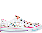 Girls' Preschool Skechers Twinkle Toes: Shuffles - Glitter Ombre Casual Shoes