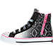 Left view of Girls' Preschool Skechers Shuffles Magic Madness Casual Shoes in Black/Pink/Silver Ombre