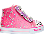 Girls' Toddler Skechers Twinkle Toes: Shuffles - High Top Casual Shoes