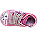 Top view of Girls' Toddler Skechers Twinkle Toes: Shuffles - High Top Casual Shoes in Hot Pink Ombre