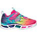 Right view of Girls' Toddler Skechers S Lights: Litebeam Running Shoes in Multi