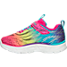 Left view of Girls' Toddler Skechers S Lights: Litebeam Running Shoes in Multi