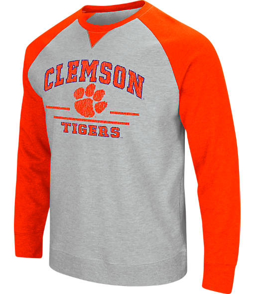 Men's Stadium Clemson Tigers College Turf Fleece Crew Sweatshirt