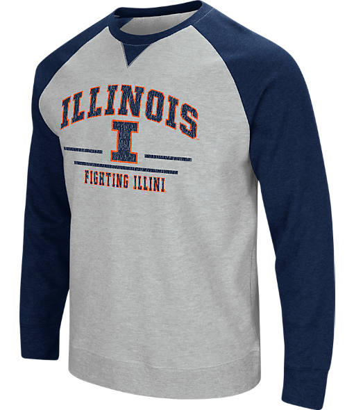 Men's Stadium Illinois Fighting Illini College Turf Fleece Crew Sweatshirt
