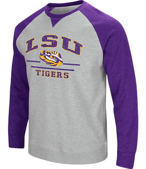 Men's Stadium LSU Tigers College Turf Fleece Crew Sweatshirt
