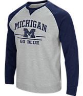 Men's Stadium Michigan Wolverines College Turf Fleece Crew Sweatshirt