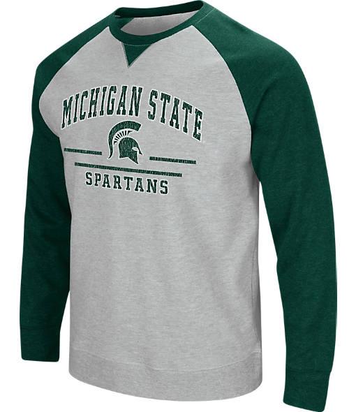 Men's Stadium Michigan State Spartans College Turf Fleece Crew Sweatshirt