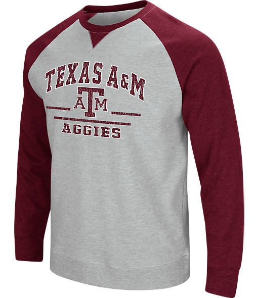 Men's Stadium Texas A&M Aggies College Turf Fleece Crew Sweatshirt