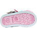 Bottom view of Girls' Toddler Skechers Twinkle Toes: Sparkle Glitz Casual Shoes in Silver/Pink