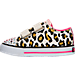 Left view of Girls' Toddler Twinkle Toes: Shuffles - Sparkle Casual Shoes in White/Pink