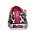 Back view of Girls' Toddler Twinkle Toes: Shuffles - Sparkle Casual Shoes in White/Pink