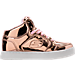 Right view of Girls' Grade School Skechers S Lights: Energy Lights Light-Up Casual Shoes in Rose Gold