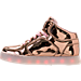 Left view of Girls' Grade School Skechers S Lights: Energy Lights Light-Up Casual Shoes in Rose Gold