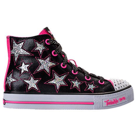 Girls' Preschool Skechers Twinkle Toes: Shuffles - Rockin' Stars Light-Up Casual Shoes