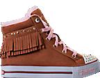 Girls' Preschool Skechers Twinkle Toes: Shuffles - Fringe Fabulous Casual Shoes