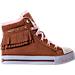 Right view of Girls' Preschool Skechers Twinkle Toes: Shuffles - Fringe Fabulous Casual Shoes in Chestnut