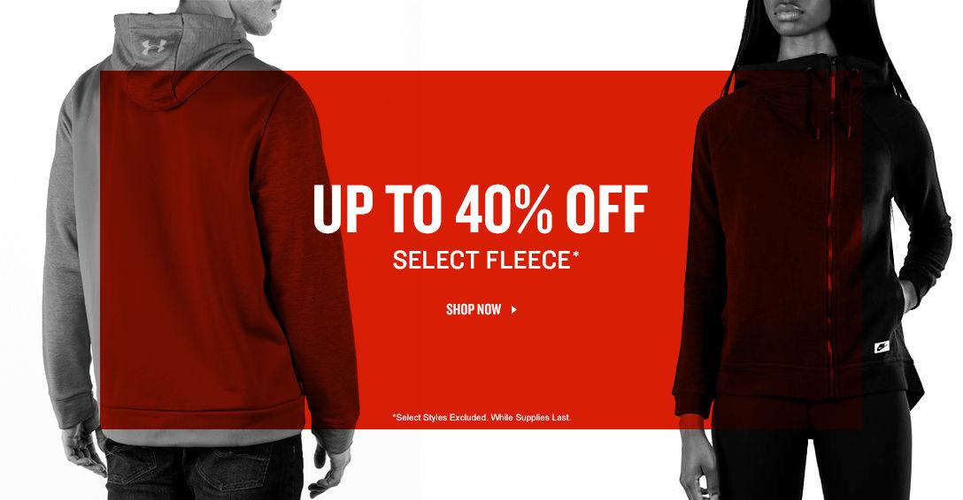 Up to 40% Off Select Fleece