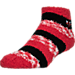 Right view of For Bare Feet Chicago Bulls NBA Sleep Soft RMC Pro Stripe Socks in Team Colors