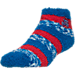 Front view of For Bare Feet Detroit Pistons NBA Sleep Soft RMC Pro Stripe Socks in Team Colors