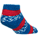 Back view of For Bare Feet Detroit Pistons NBA Sleep Soft RMC Pro Stripe Socks in Team Colors