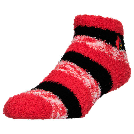 For Bare Feet Louisville Cardinals College Sleep Soft RMC Pro Stripe Socks