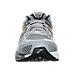 Front view of Men's Brooks Beast Wide Width 4E Running Shoes in Light Grey/Dark Grey/Black