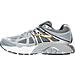 Left view of Men's Brooks Beast Wide Width 4E Running Shoes in Light Grey/Dark Grey/Black