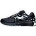 Left view of Men's Brooks Beast Wide Width 4E Running Shoes in Anthracite/Black/Silver