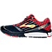 Left view of Men's Brooks Ghost 9 Running Shoes in Peacoat Navy/True Red/Gold