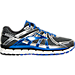Right view of Men's Brooks Adrenaline GTS 17 Wide Running Shoes in Anthracite/Electric Brooks Blue/Silver