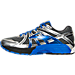 Left view of Men's Brooks Adrenaline GTS 17 Wide Running Shoes in Anthracite/Electric Brooks Blue/Silver