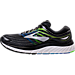 Left view of Men's Brooks Glycerin 15 Running Shoes in Black/Electric Blue/Green
