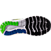 Bottom view of Men's Brooks Glycerin 15 Running Shoes in Black/Electric Blue/Green