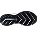 Bottom view of Men's Brooks Levitate Running Shoes in White/Black/Grey