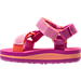 Left view of Girls' Toddler Teva Universal Sandals in Pink/Orange