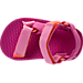 Top view of Girls' Toddler Teva Universal Sandals in Pink/Orange