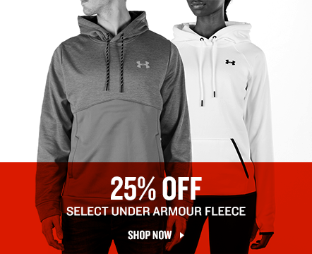 Under Armour Fleece up to 25% off.