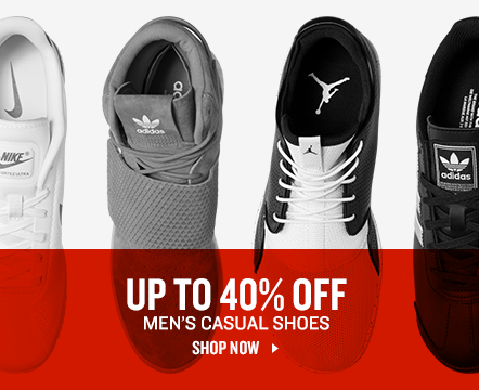 Men's Casual Shoes up to 40% Off.