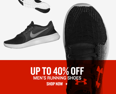 Men's Running Shoes up to 40% Off.