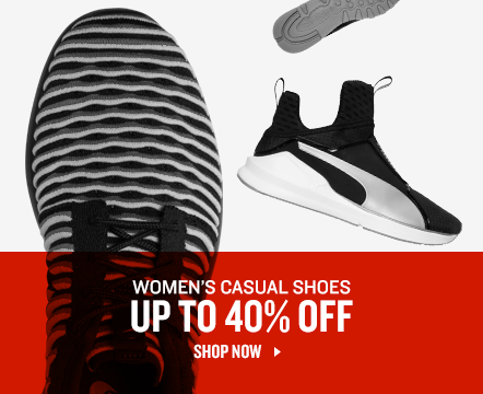 Women's Casual Shoes up to 40% Off.