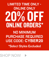20 off orders over 100. Shop Now.