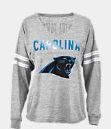 Women's New Era Carolina Panthers NFL Slub V-Neck T-Shirt