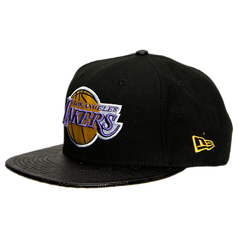 New Era Los Angeles Lakers NBA Pattern Perforated Snapback Hat
