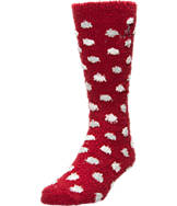 Women's For Bare Feet Alabama Crimson Tide College Polka Dot Sleepsoft Socks