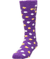 Women's For Bare Feet LSU Tigers College Polka Dot Sleepsoft Socks